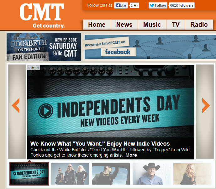 CMT.com indie day