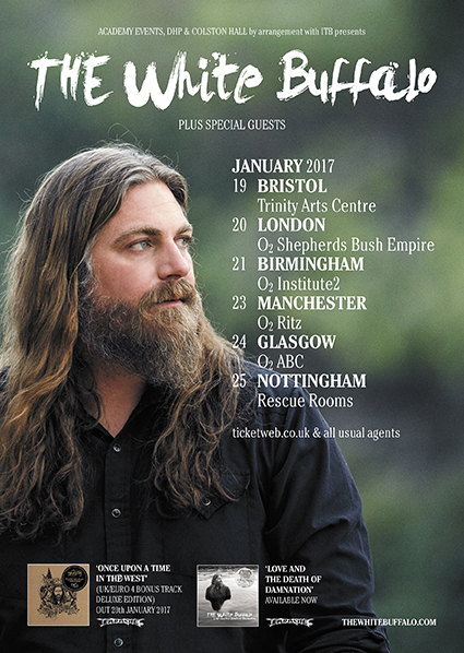 The White Buffalo Announces January 2017 UK Tour