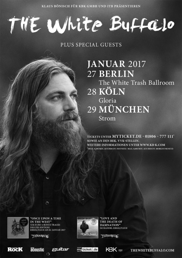 The White Buffalo Germany 2017 Dates!