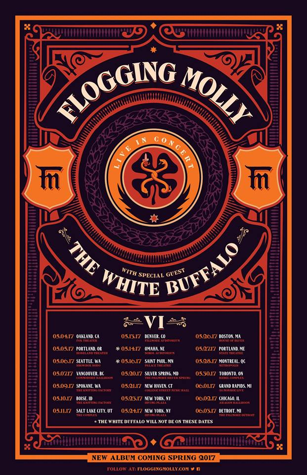 The White Buffalo on Tour With Flogging Molly!