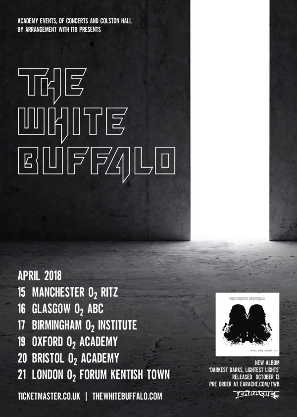 The White Buffalo Announces New Dates in Europe for 2018