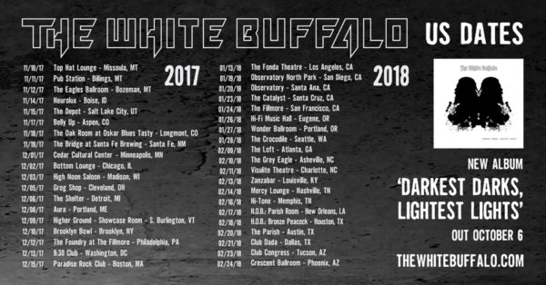"The White Buffalo Shares New Single ""Avalon"" & Announces New Tour Dates"