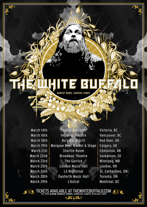 The White Buffalo is coming to Canada in March 2019, and tickets for the below shows are now on-sale!
