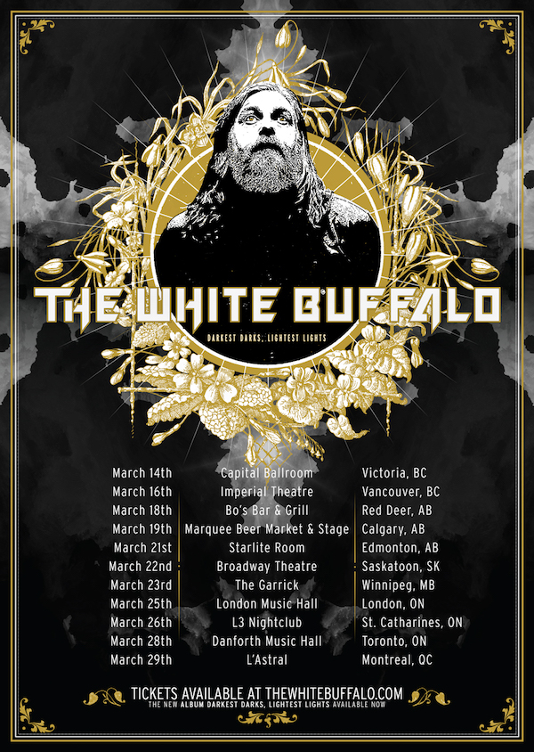The White Buffalo is Returning to Canada in March 2019!